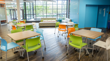 Movable furniture in the classroom