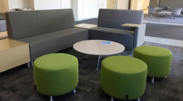 Collaboration space using modular, movable furniture