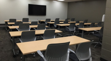 Furniture and technology for training room