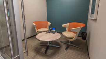 Phone call technology and privacy in a collaboration space