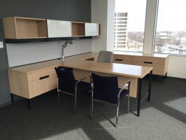 Private office desk and storage