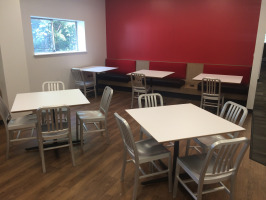 Cafeterias create designated places to eat and collaborate