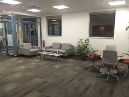 Open lounge space in the work place