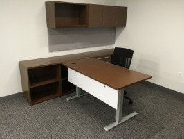Private office solution with custom storage solution