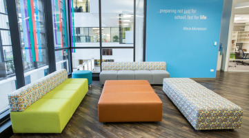 Furniture to support an open learning environment and collaboration in the classroom