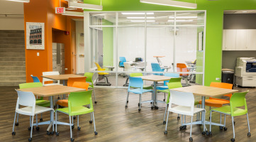 Movable furniture in an education space