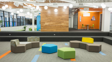 Modular furniture in the learning space