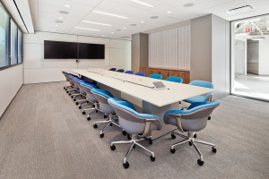 Conference Room Table with Integrated Techology