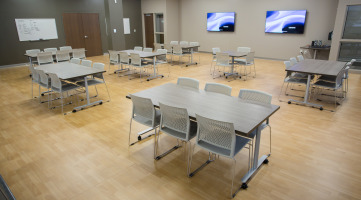 Cafeteria space creates natural collaboration