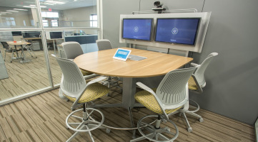 Integrated Technology in a Workplace Meeting Space