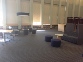 Shades, light fixtures, and furniture for learning spaces
