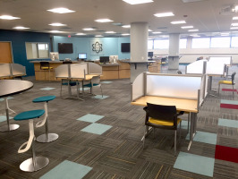 Individual and group work spaces in library