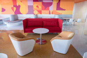 Comfortable hospital cafe