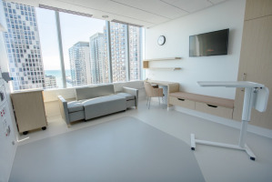 Comfortable patient room furniture