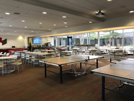 Dining space and recreational area in workplace