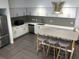 Kitchenette and dining space in workplace
