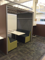 Private collaboration space in the workplace