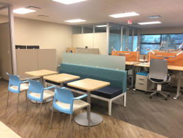 Dining space in workplace