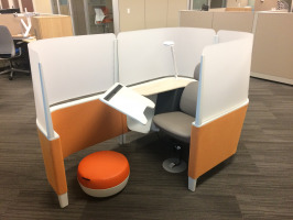 The Brody chair is a thinkpod type focus zone